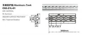 Piste E de remorque de contrôle de cargaison en aluminium us