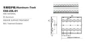 Voie résistante de la remorque E de contrôle de cargaison de corps de camion en aluminium