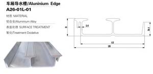 ट्रक बॉडी पार्ट्स के लिए एल्यूमिनियम एज Edge
