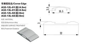 फैक्टरी आउटलेट एल्यूमिनियम मिश्र धातु ट्रक बॉडी कॉर्नर एज