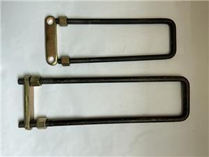 Boulon en U en acier galvanisé pour le diamètre de corps de remorque 14 et 16mm
