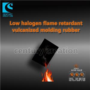 Low halogen flame retardant vulcanized molding rubber