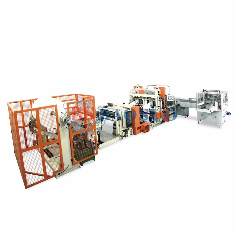 Línea de producción automática de servilletas de transferencia automática de 500 m / min