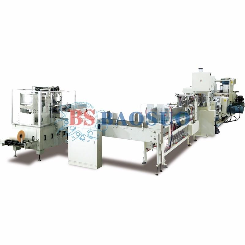 Línea de producción automática de servilletas de transferencia automática de 400 m / min