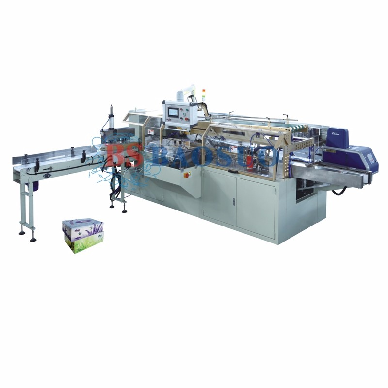 Automatic Facial Tissue Box Packing Machine