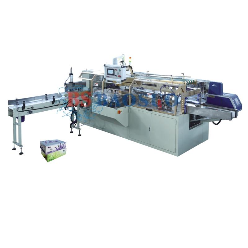 Machine d'emballage pour boîte de mouchoirs