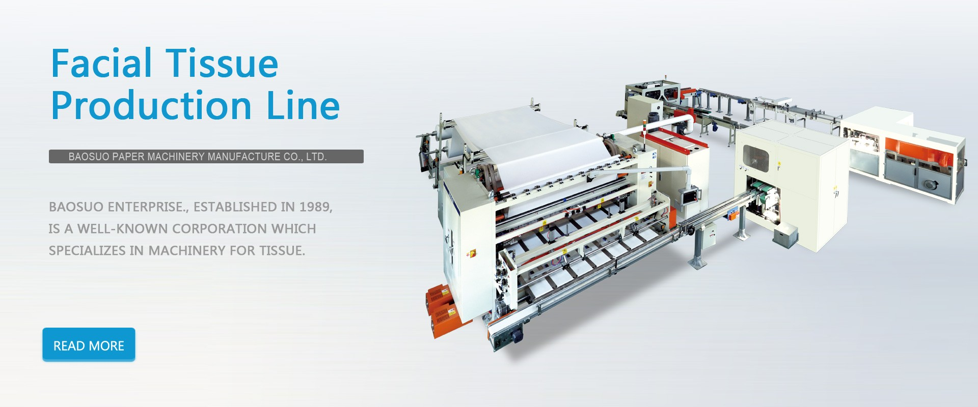 1500 mm - 2200 mm Auto Transfer Automatic Facial Tissue Production Line