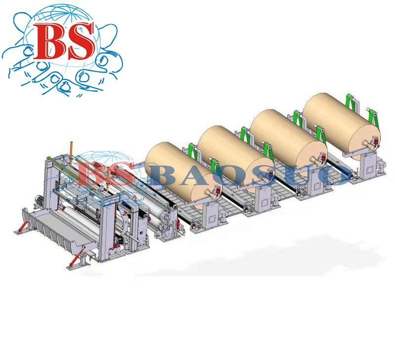 ماكينة تقطيع لفة جامبو أوتوماتيكية عالية السرعة PF-EG