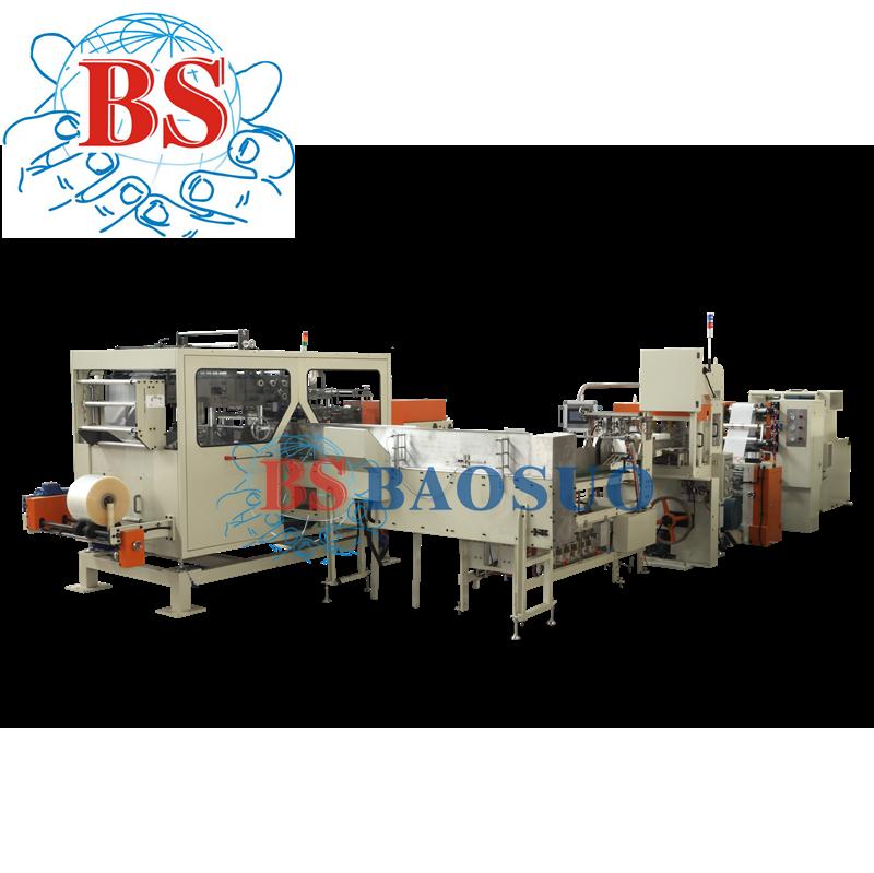 Ligne de production automatique de serviettes à transfert automatique de 400 m/min