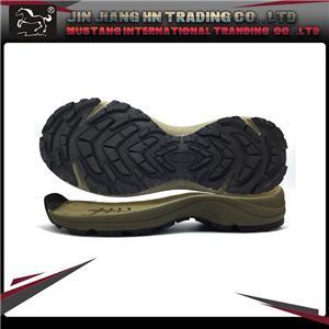 Hiking rubber shoe sole