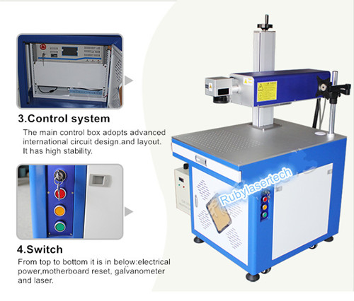 sapphire glass cup UV laser marking machine