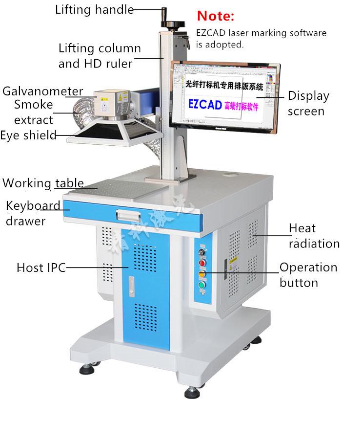 IPG 50W fiber laser marker