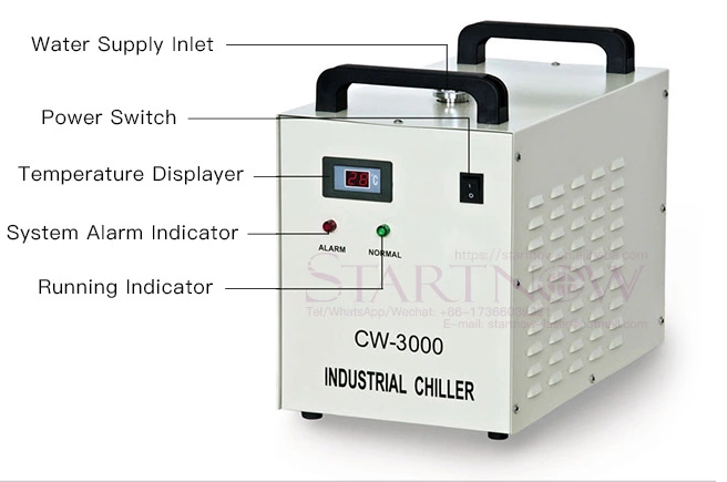 engraving type water cooling chiller