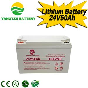 24V 50Ah Lithium Battery