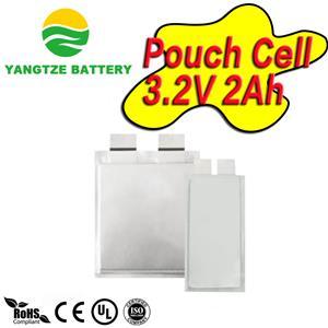 3.2V 2Ah polymer/pouch lifepo4 celll
