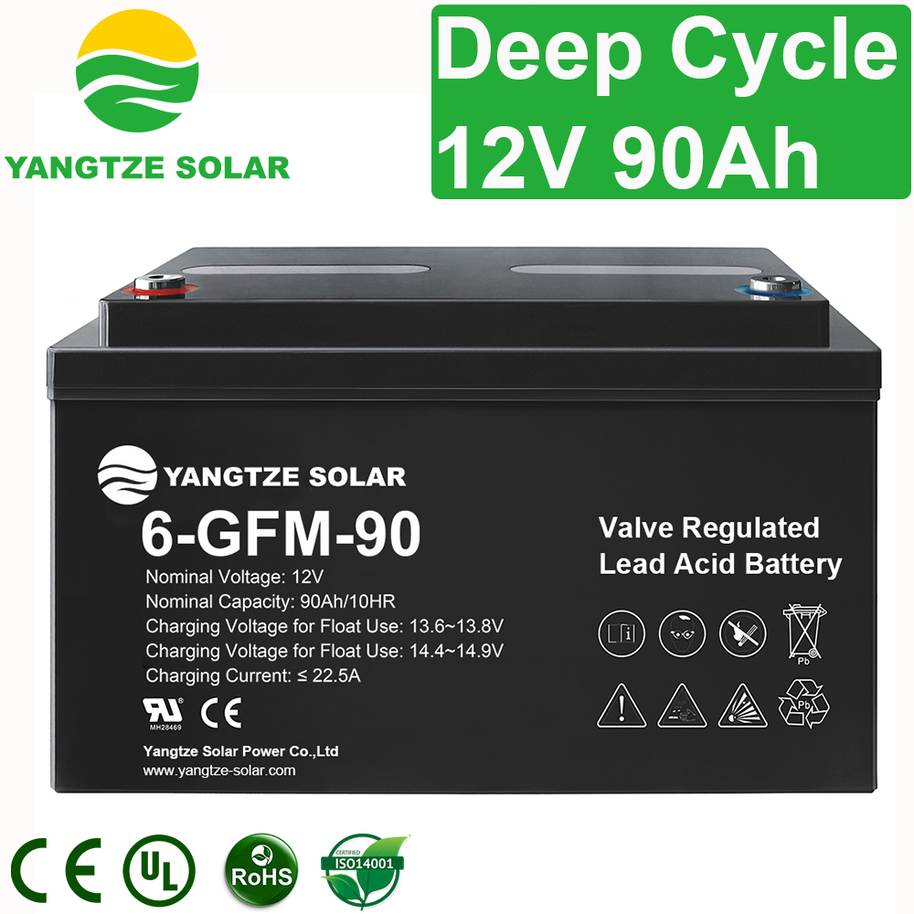 12V 90Ah Deep Cycle Battery Manufacturers, 12V 90Ah Deep Cycle Battery Factory, Supply 12V 90Ah Deep Cycle Battery