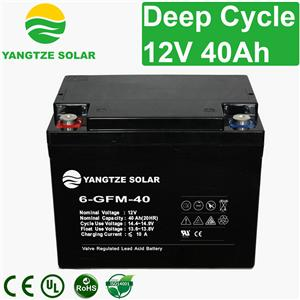 12V 40Ah Deep Cycle Battery Manufacturers, 12V 40Ah Deep Cycle Battery Factory, Supply 12V 40Ah Deep Cycle Battery