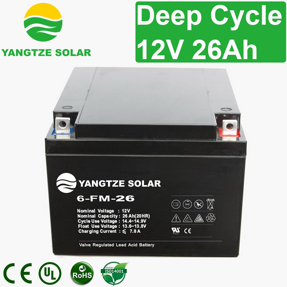 12V 26Ah Deep Cycle Battery Manufacturers, 12V 26Ah Deep Cycle Battery Factory, Supply 12V 26Ah Deep Cycle Battery