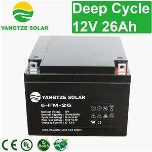 12V 26Ah Deep Cycle Battery
