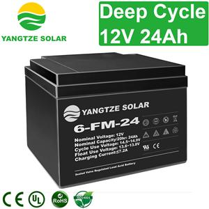 12V 24Ah Deep Cycle Battery