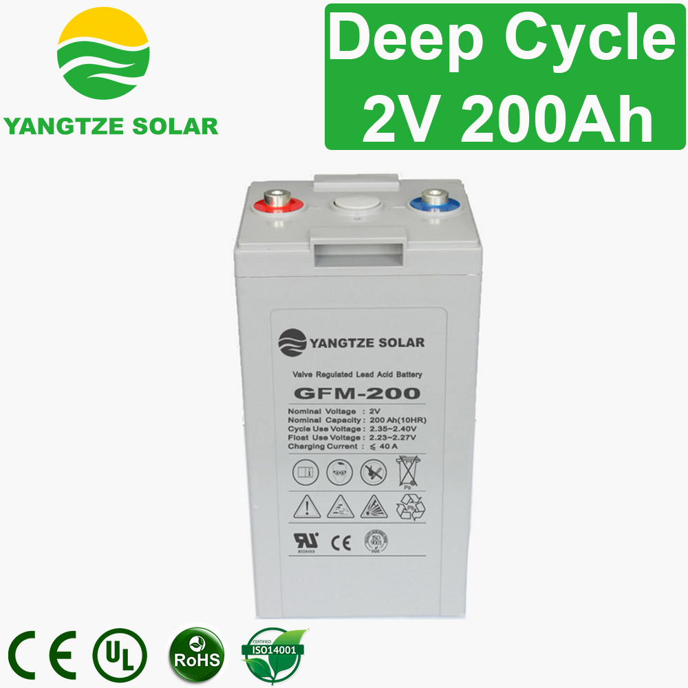 2V 200Ah Deep Cycle Battery Manufacturers, 2V 200Ah Deep Cycle Battery Factory, Supply 2V 200Ah Deep Cycle Battery