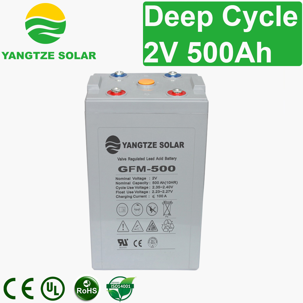 2V 500Ah Deep Cycle Battery Manufacturers, 2V 500Ah Deep Cycle Battery Factory, Supply 2V 500Ah Deep Cycle Battery
