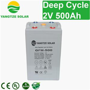 2V 500Ah Deep Cycle Battery