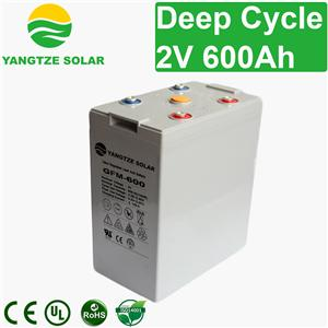 2V 600Ah Deep Cycle Battery