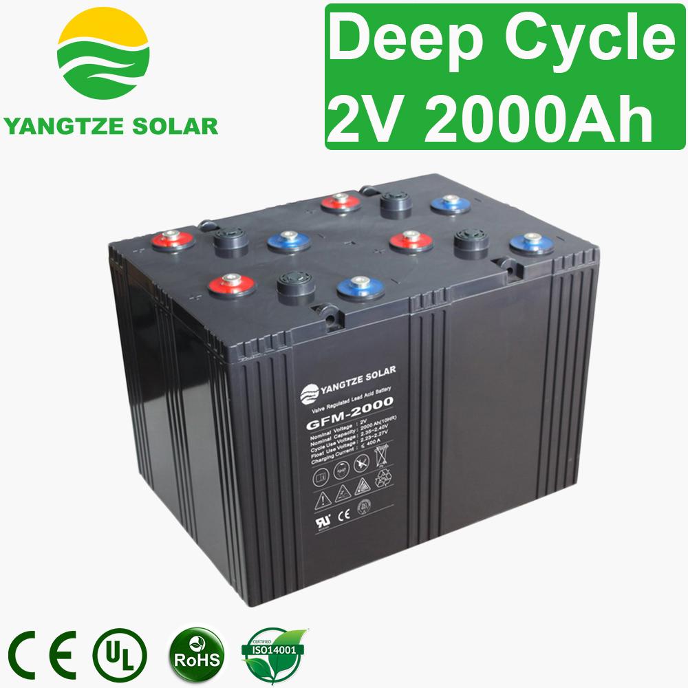 2V 2000Ah Deep Cycle Battery Manufacturers, 2V 2000Ah Deep Cycle Battery Factory, Supply 2V 2000Ah Deep Cycle Battery