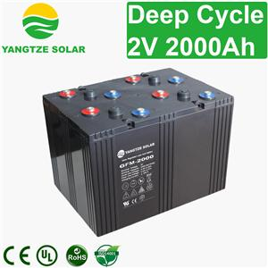 2V 2000Ah Deep Cycle Battery
