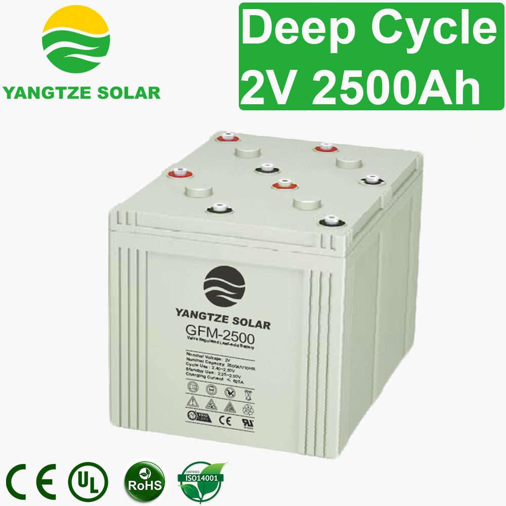 2V 2500Ah Deep Cycle Battery Manufacturers, 2V 2500Ah Deep Cycle Battery Factory, Supply 2V 2500Ah Deep Cycle Battery