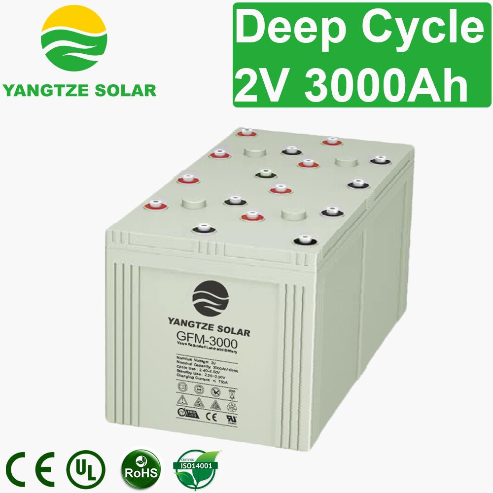 2V 3000Ah Deep Cycle Battery Manufacturers, 2V 3000Ah Deep Cycle Battery Factory, Supply 2V 3000Ah Deep Cycle Battery