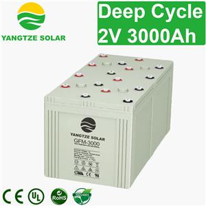 2V 3000Ah Deep Cycle Battery