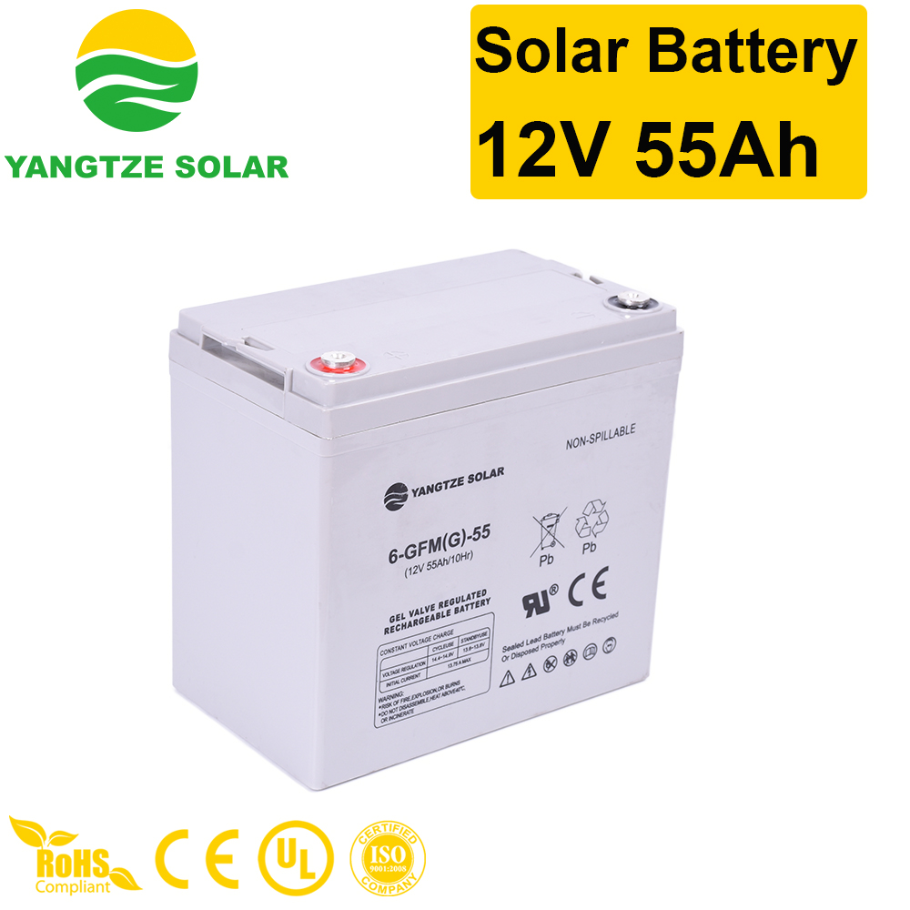 Solar Battery 12V 55Ah Manufacturers, Solar Battery 12V 55Ah Factory, Supply Solar Battery 12V 55Ah