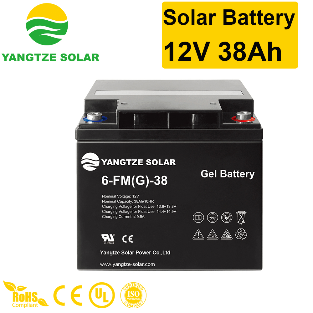 Solar Battery 12V 38Ah Manufacturers, Solar Battery 12V 38Ah Factory, Supply Solar Battery 12V 38Ah