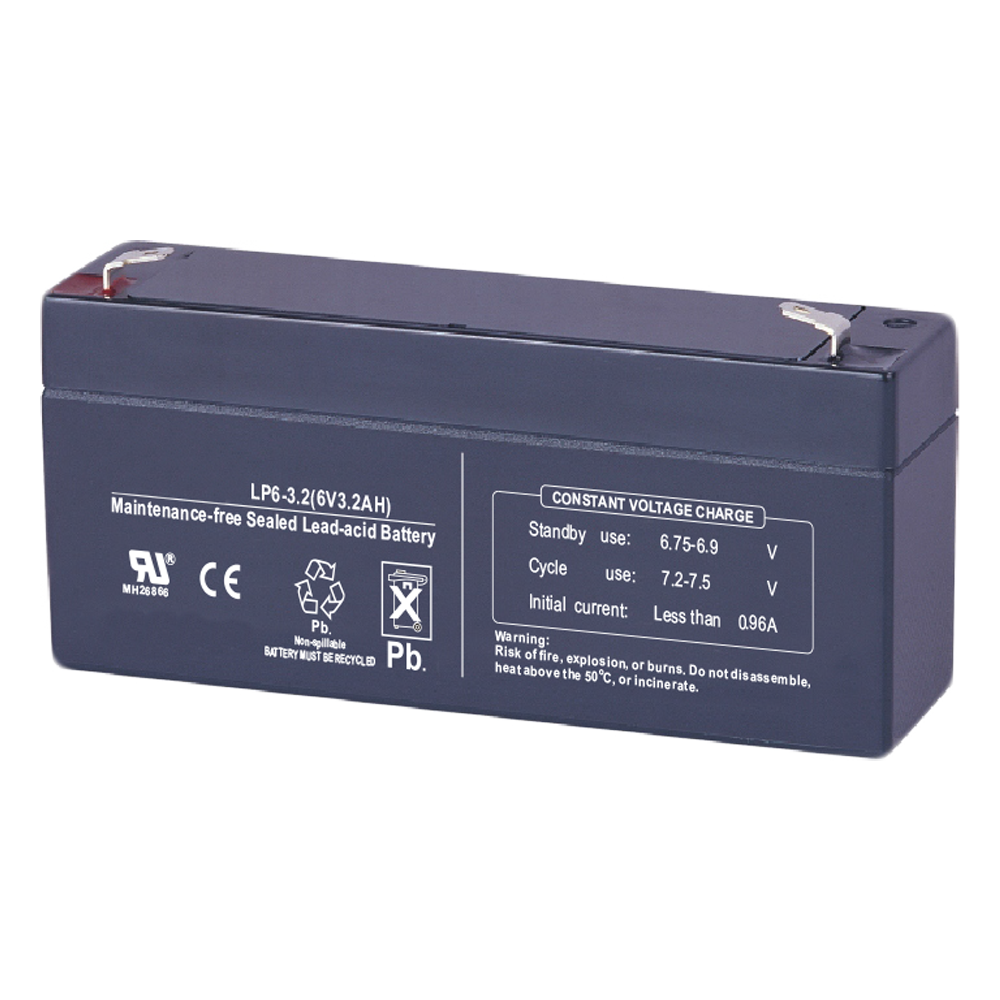 6V 3.2Ah Rechargeable Lead Acid Battery Manufacturers, 6V 3.2Ah Rechargeable Lead Acid Battery Factory, Supply 6V 3.2Ah Rechargeable Lead Acid Battery