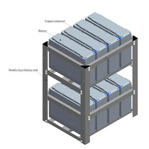 FT vertical double-layer folded rack