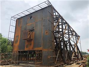 Celebre la finalización del montaje de prueba de la torre de radar