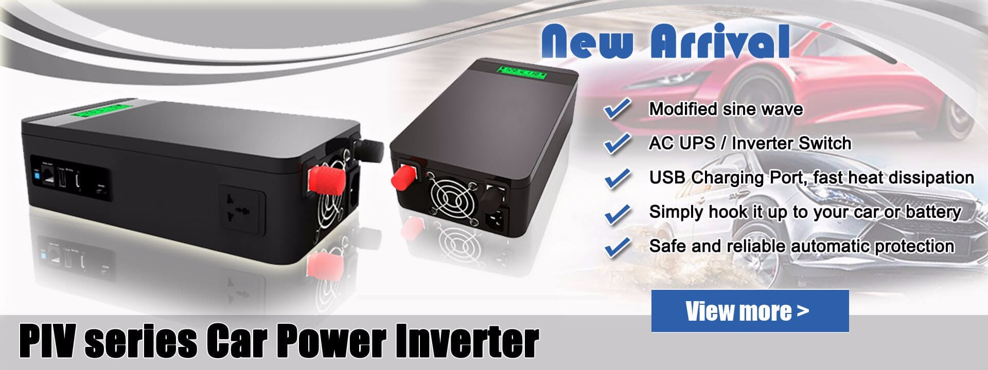 Инвертор мощности для автомобильной вилки для домашнего использования, 1200 Вт