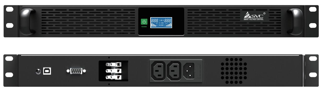 1U Rackmount Line interactive UPS 500W Rack battery backup power supply with internal LifeP04 lithium battery