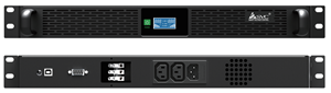 1U Rackmount Line interactive UPS 500W Rack battery backup power supply with internal LifeP04 lithium battery