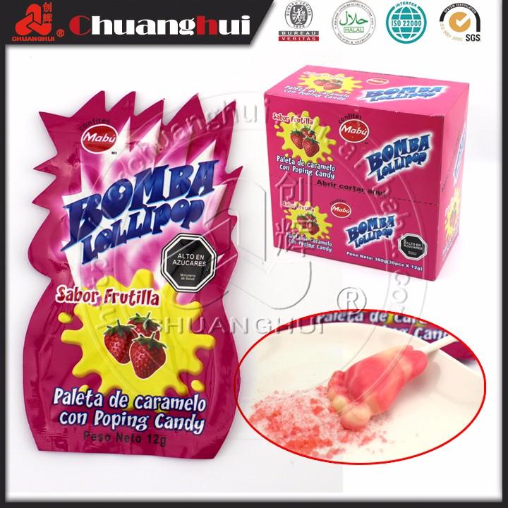 Bigfoot Lollipop Bomb Popping Candy