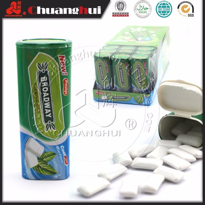13g bonbon à saveur de menthe verte de chewing-gum de flèche verte