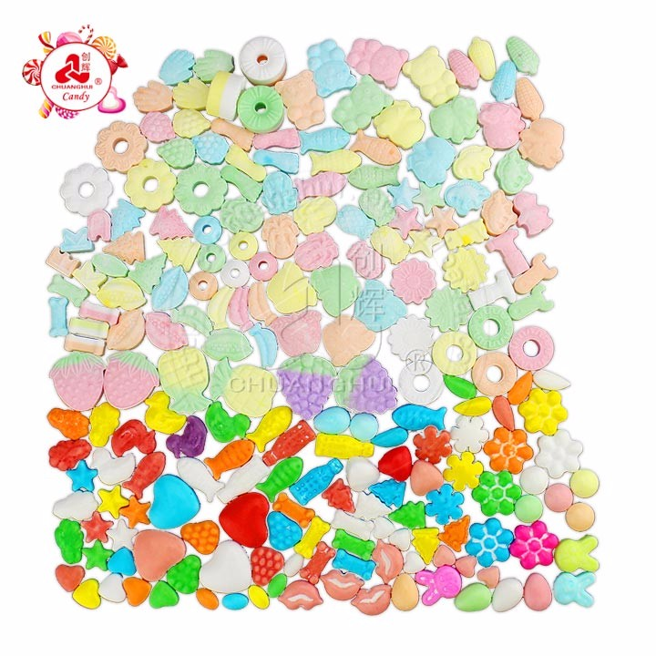 wholesale Fruit flavor compressed Dextrose Candy / Pressed Candy in Bulk