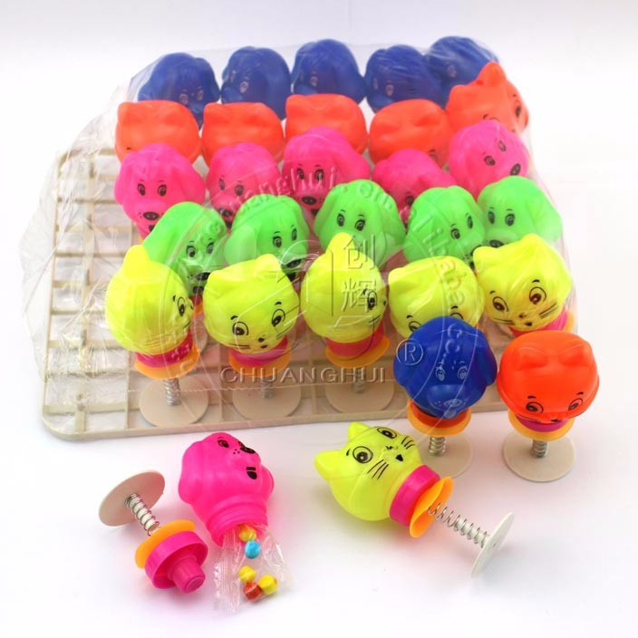 Spring Bounce Animal toys with pressed candy toy Jumping