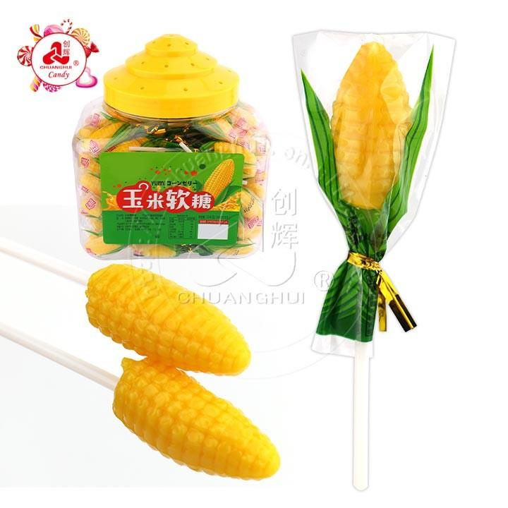 Bonbons gélifiés à la gelée molle en forme de maïs