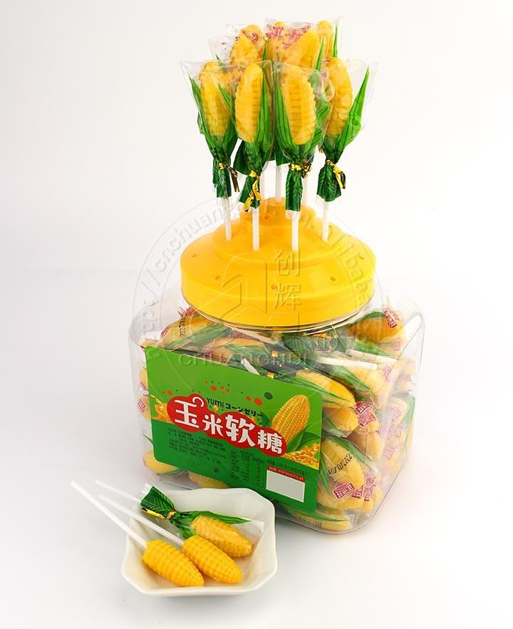 Corn Shaped Soft Jelly Gummy Lollipop Candy Manufacturers, Corn Shaped Soft Jelly Gummy Lollipop Candy Factory, Supply Corn Shaped Soft Jelly Gummy Lollipop Candy