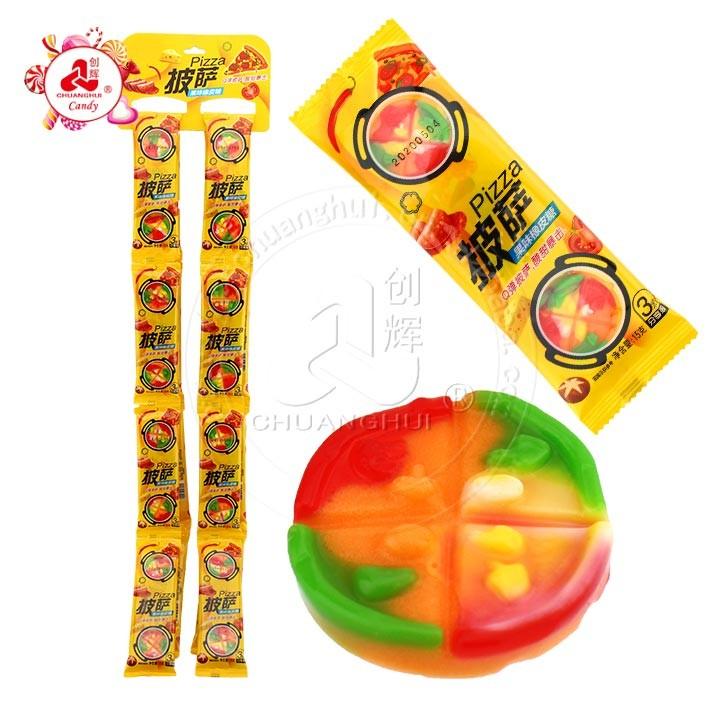 3 pcs en 1 Assiette suspendue emballage Pizza bonbons gélifiés doux