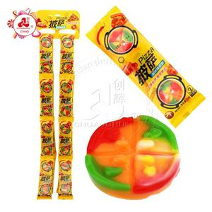 3 pcs in 1 Hanging plate packaging Pizza soft gummy candy