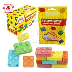 Fruity Flavor Colorful DIY building blocks Assemble press candy